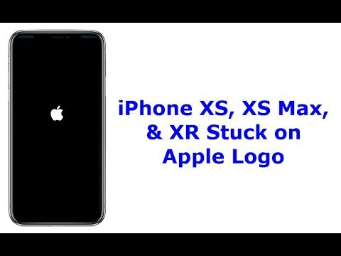 iPhone XS, XS Max, and XR Stuck on Apple Logo (White/Black Screen).