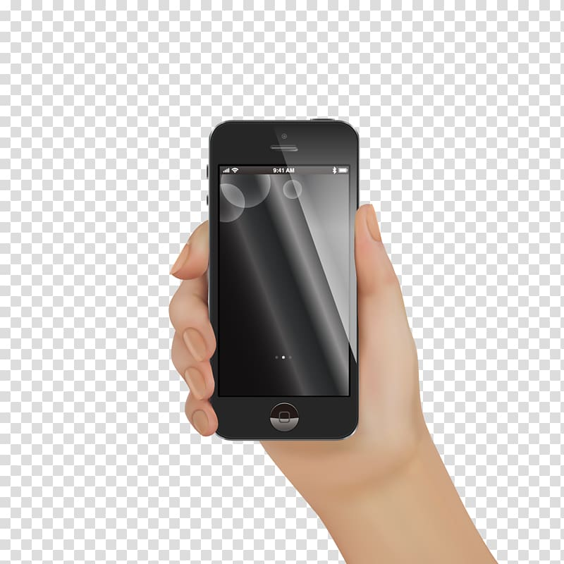 IPhone X iPhone 5s Smartphone, hand phone transparent.