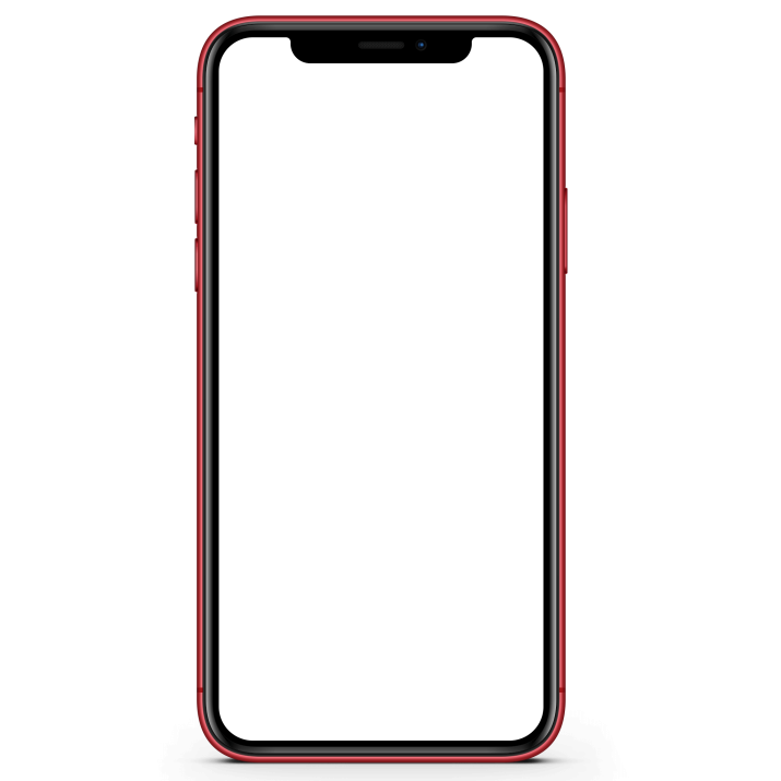 iPhone XR Red Mockup PNG Image Free Download searchpng.com.