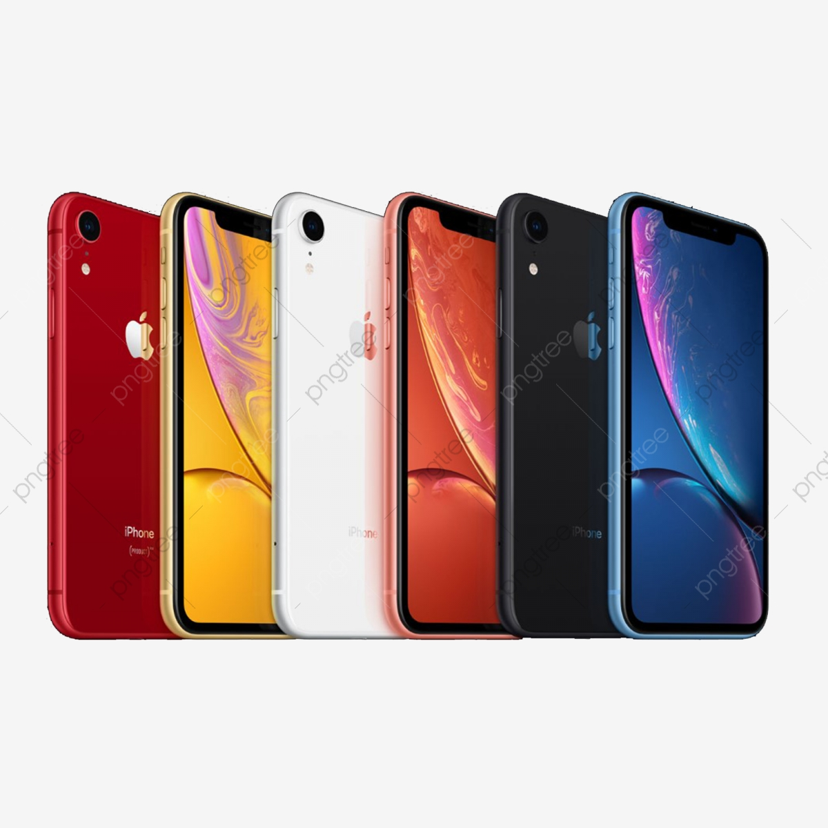 New Iphone Xr All Color Phototype Mockup, Mobile, Phone.