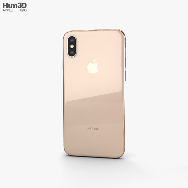 Apple iPhone XS Gold 3D model.