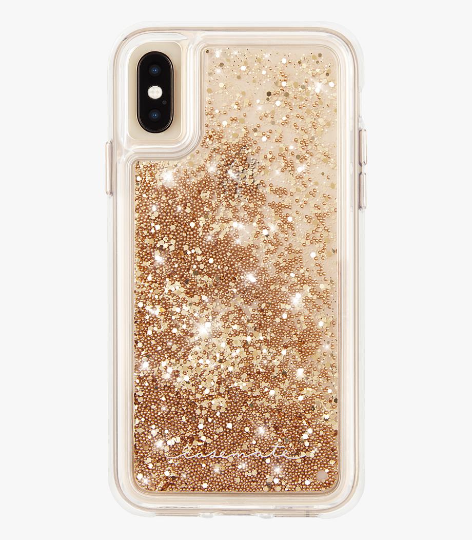 Transparent Glitter Case.