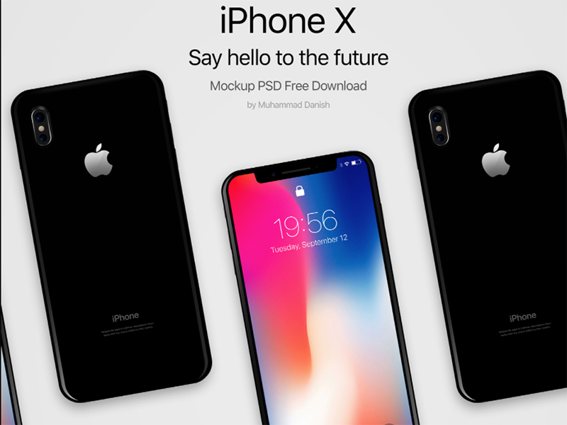 20 Free iPhone X Mockups [PSD, Sketch] — 2019.