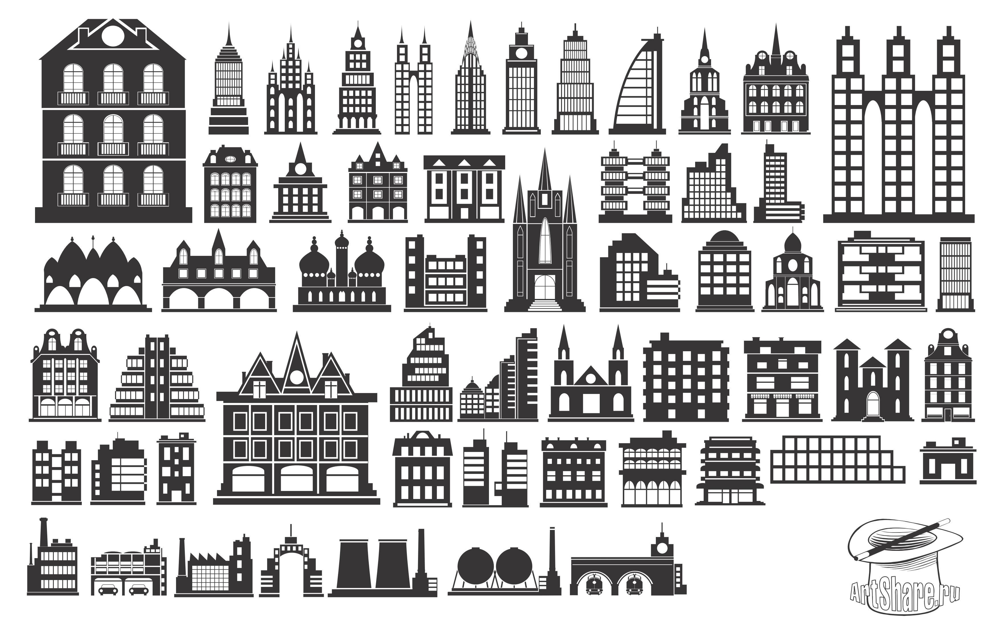 Building Silhouettes Eps Free Company Logo Download Vector.