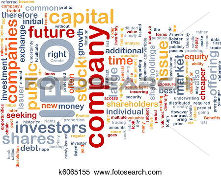 Stock Illustration of Company IPO is bone background concept.