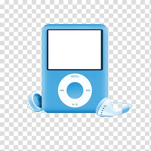 Ipods, blue iPod Nano illustration transparent background PNG.
