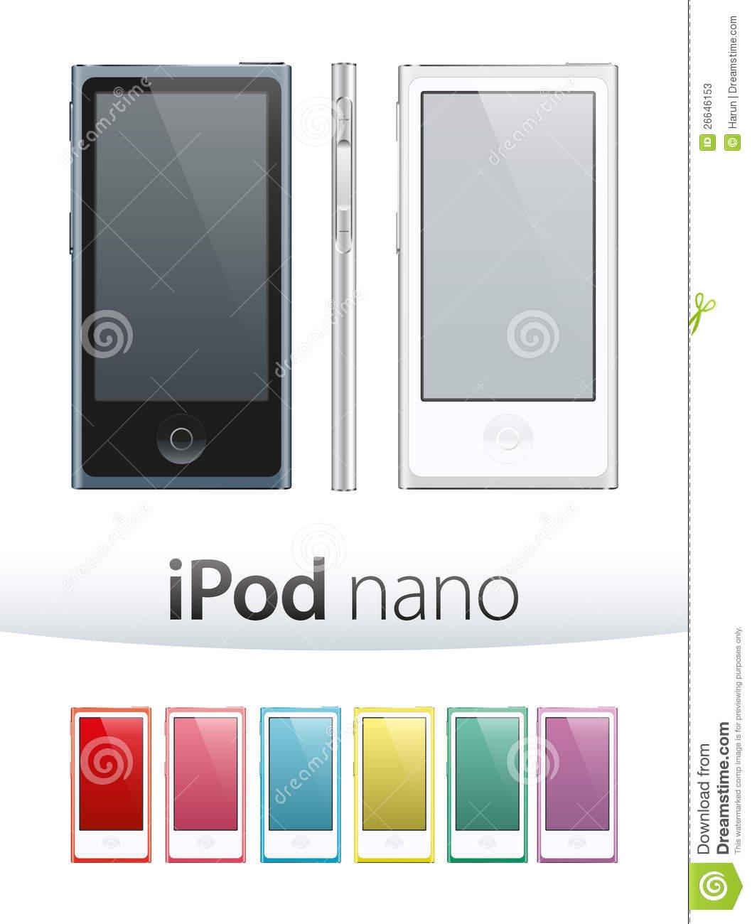 Ipod nano clipart.