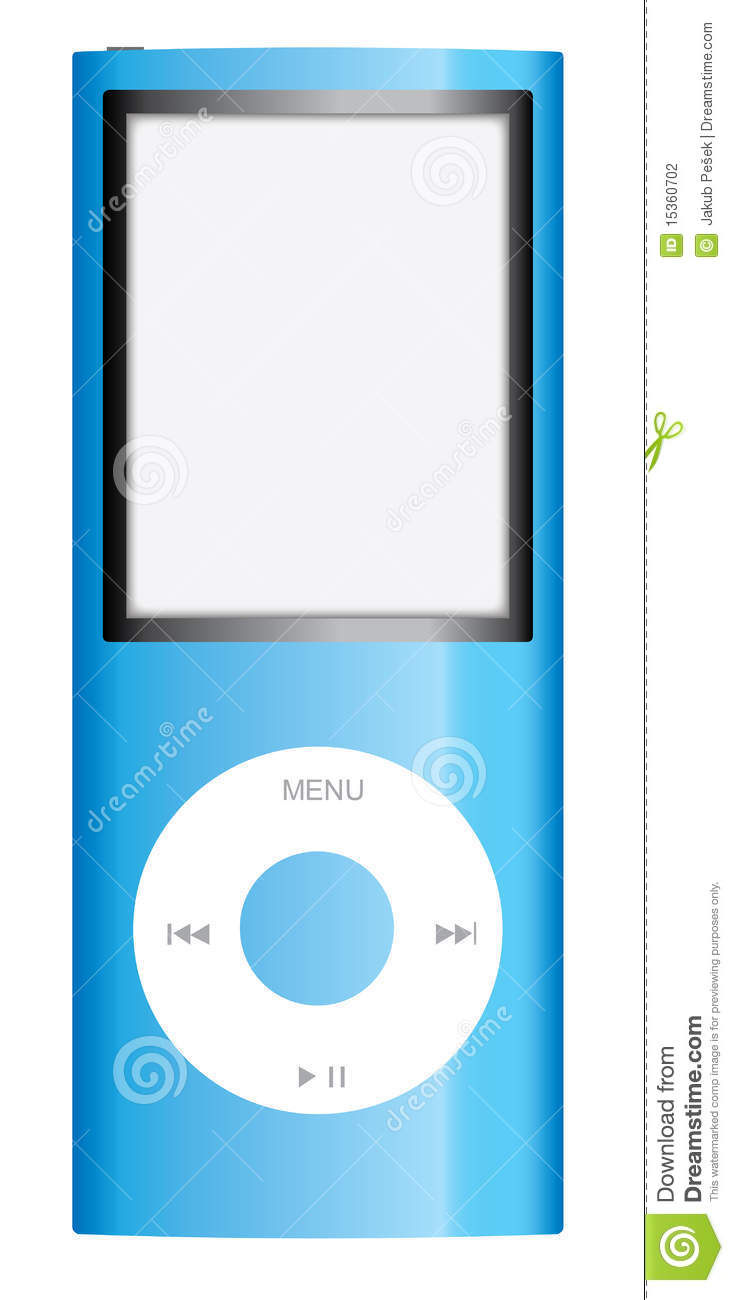 Blue Ipods Clipart.