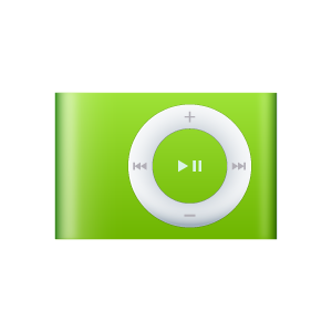 iPod Shuffle Green icons, free icons in iPod, (Icon Search Engine).