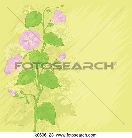 Clipart of Background with flowers Ipomoea k8696123.