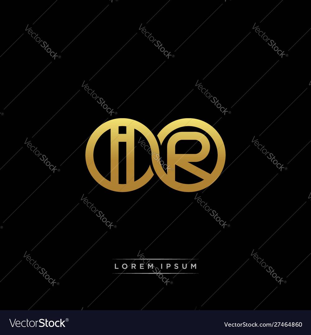Ir initial letter linked circle capital monogram.
