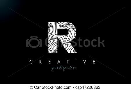 IR I R Letter Logo with Zebra Lines Texture Design Vector..