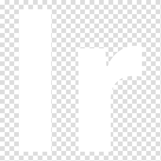 Black n White, white IR icon logo transparent background PNG.