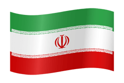Iran flag icon.