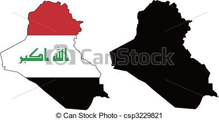 Vector Clip Art of Iraq.