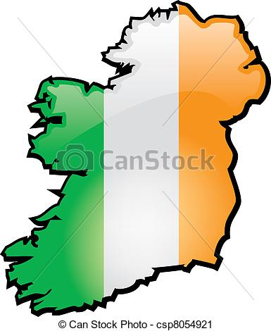 Clipart map of ireland.