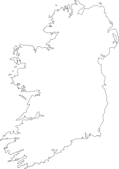 Outline Map Of Ireland Clip Art at Clker.com.