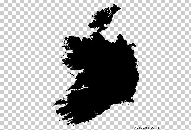 Ireland Blank Map PNG, Clipart, Black, Black And White.