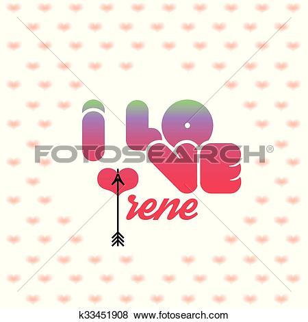 Clip Art of I love Irene k33451908.