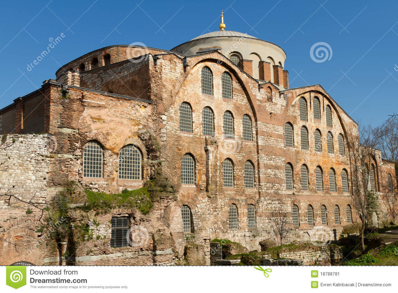 Hagia Irene Church Stock Image.