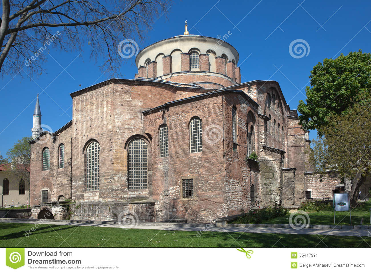 Church Of St. Irene In The Park Of Topkapi Palace. Istanbul.