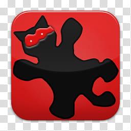 Quadrat icons, irfanview, black cat art transparent.