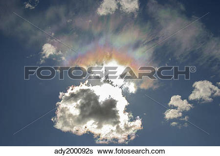 Stock Images of Iridescent clouds, Alberta, Canada. ady200092s.
