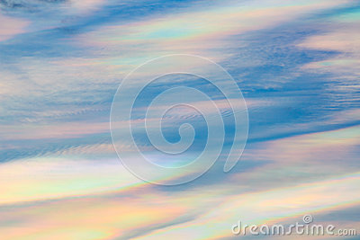Iridescent Cloud In The Sky Stock Photo.