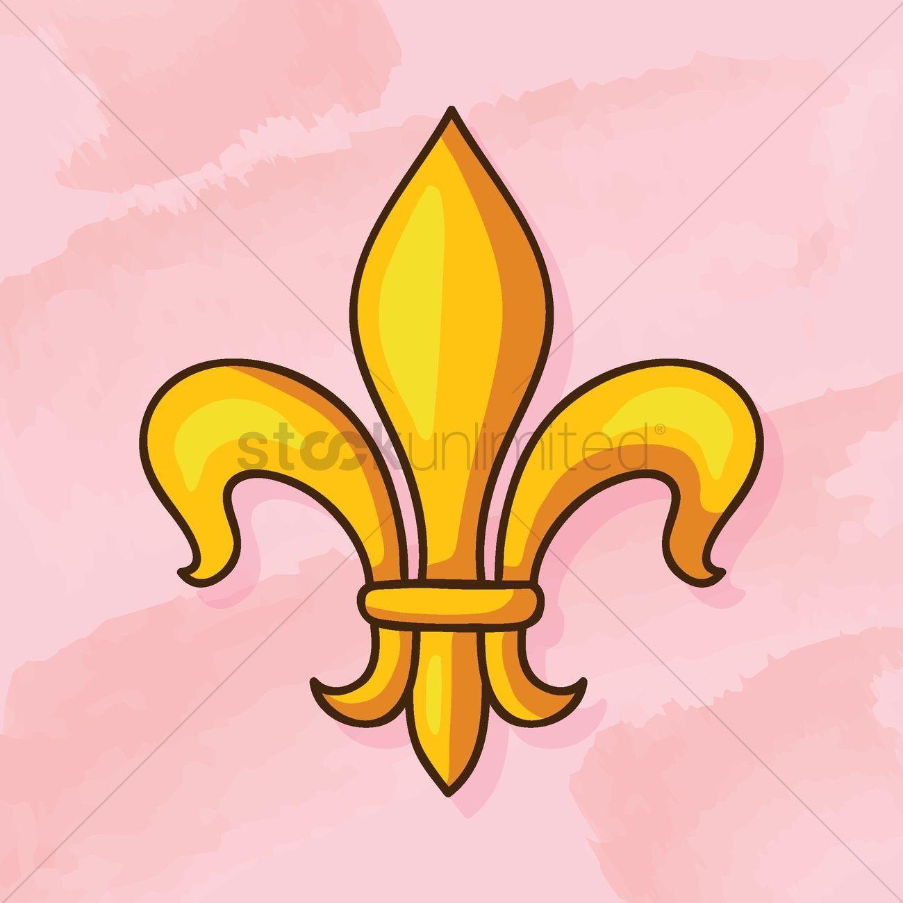 French national flower Vector Image.