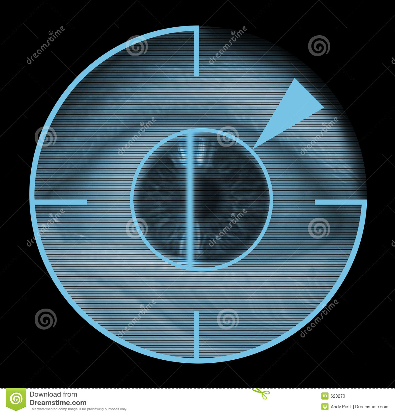 Biometric Retinal Eye Scanner Stock Photo.