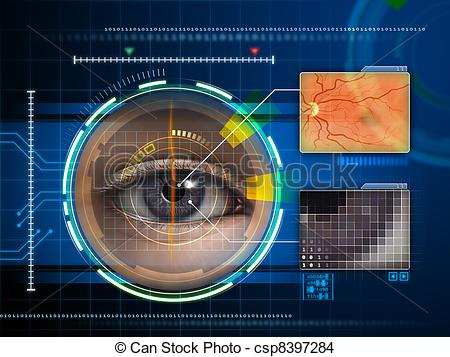 Drawing of Eye scanner.