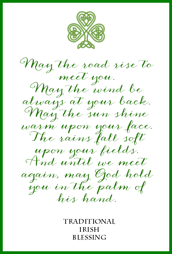 Irish Blessing Free Printables for St. Patrick's Day: 3 Designs.
