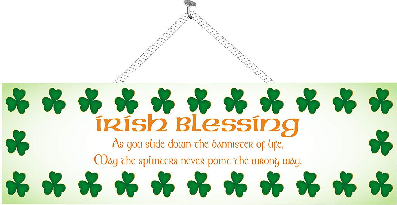 Amazon.com: Irish Blessing Sign with Green Shamrocks and Celtic Font.