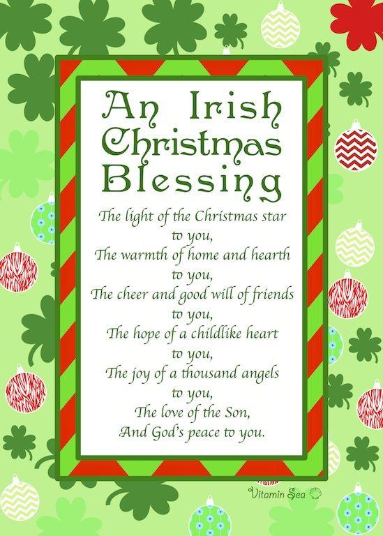 An Irish Christmas Prayer www.VitaminSeaDesign.com.