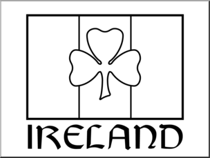 Shamrock Clipart Black And White.