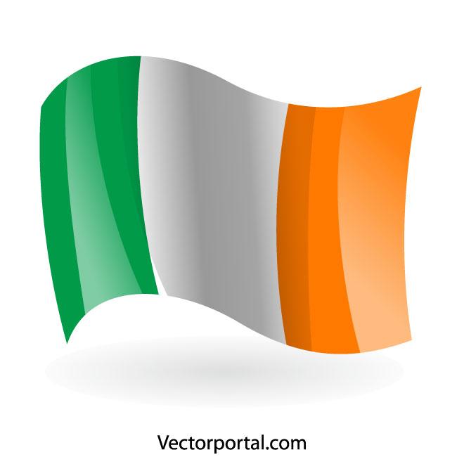 Irish flag vector clip art.