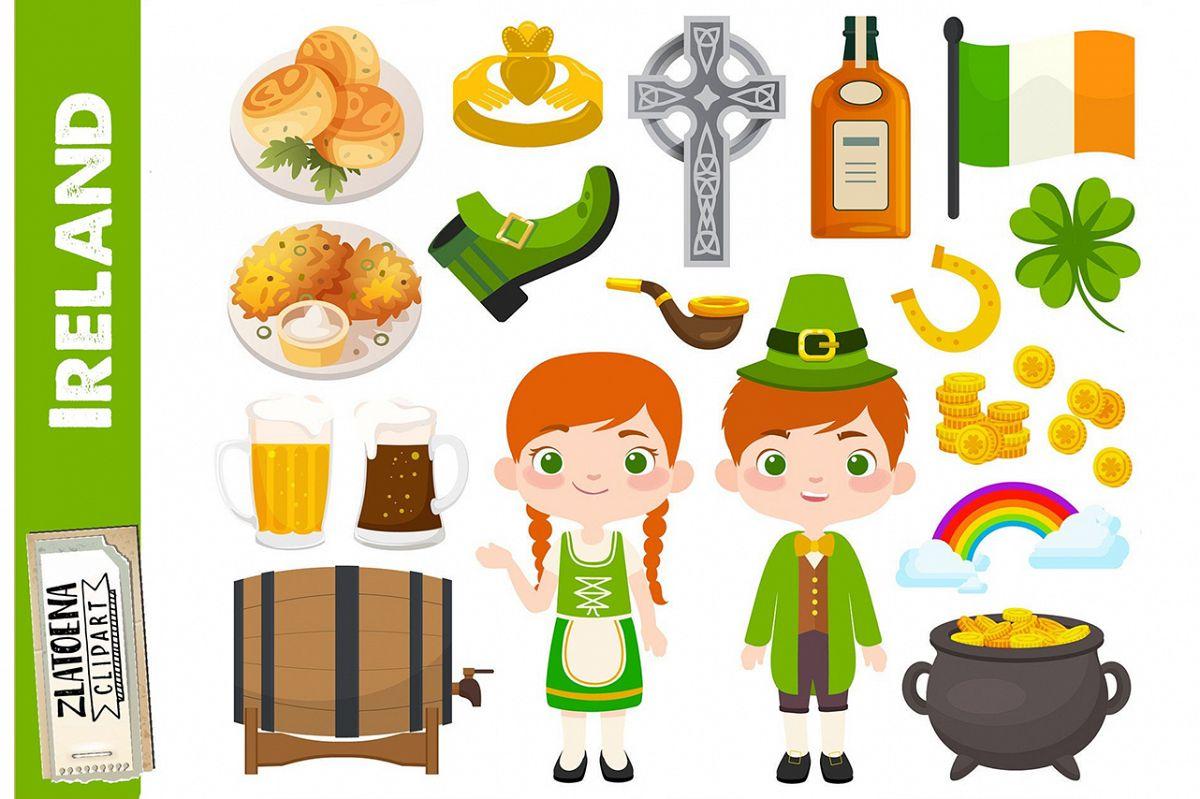 Ireland clip art Irish graphics St Patricks Day Clipart.