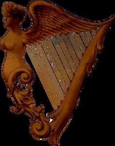 202 celtic harp clip art free.