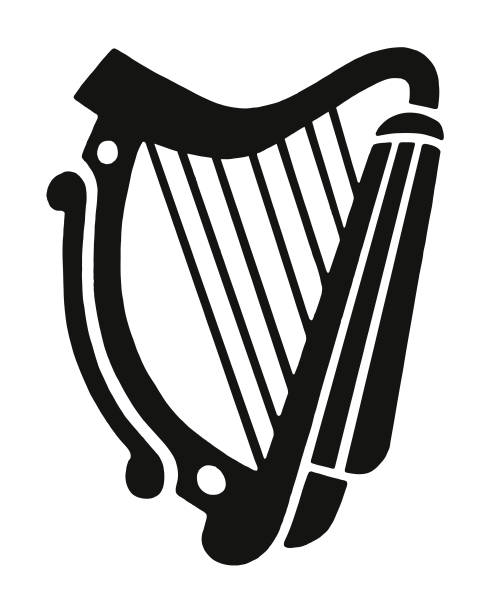Best Irish Harp Illustrations, Royalty.