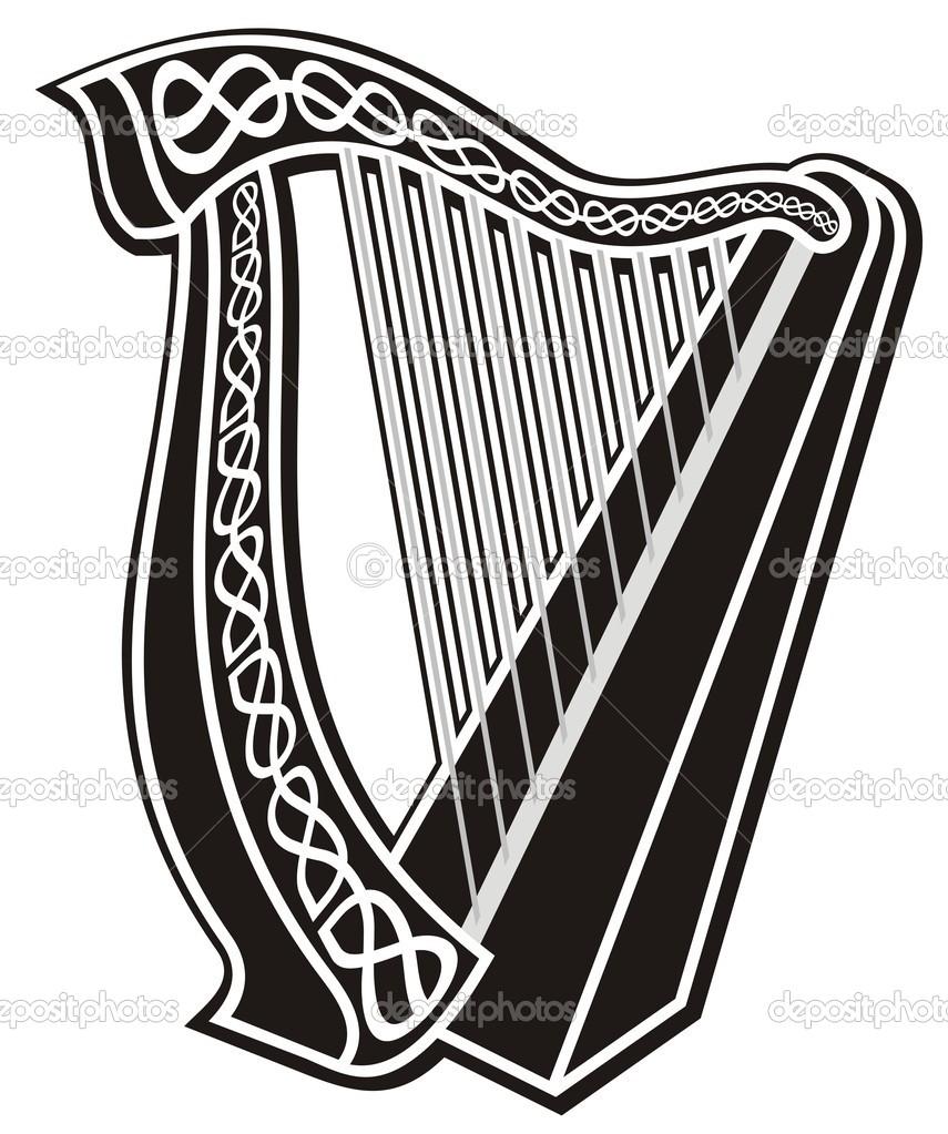 Irish Harp Symbol free image.