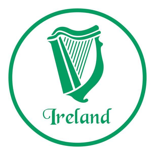Best Irish Harp Illustrations, Royalty.