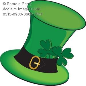 Green Leprechaun's Hat with Shamrocks Royalty.