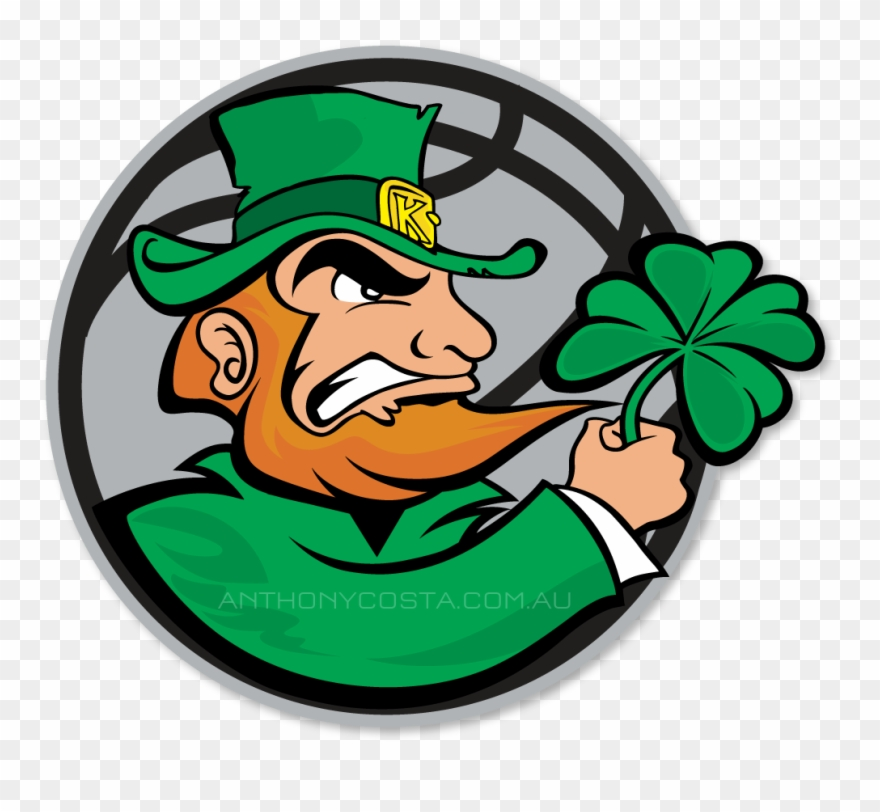 Kellyville Irish Basketball Logo Design.