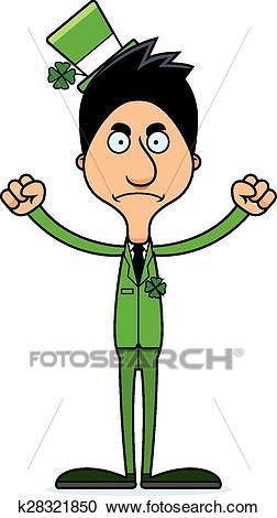 Cartoon Angry Irish Man Clipart.
