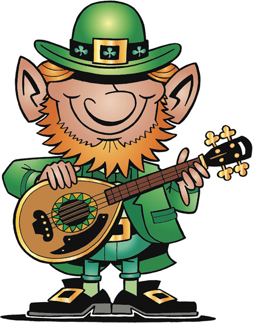 Irish music clipart.