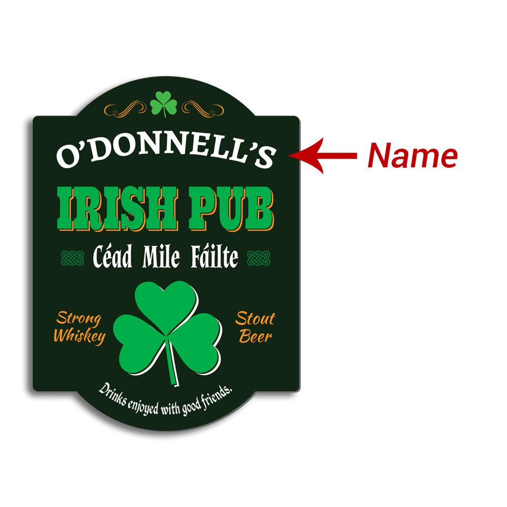 Irish Pub Sign Clipart.