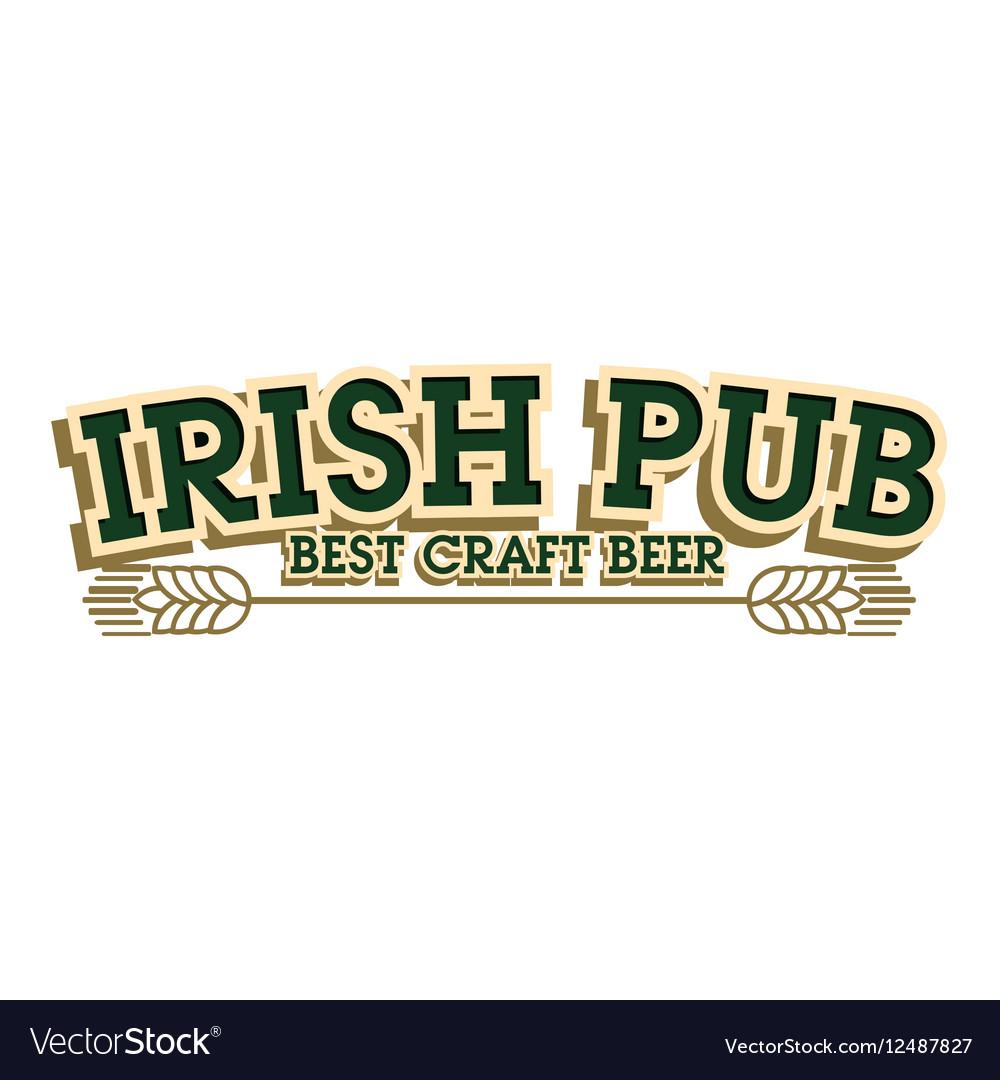 Color vintage irish pub emblem.