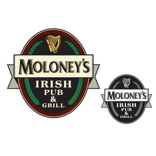 Irish Pub logo design.