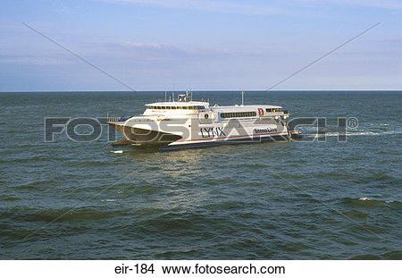 Stock Photo of Sea Cat Ferry on Irish Sea eir.