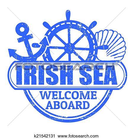 Clipart of Irish Sea stamp k21542131.